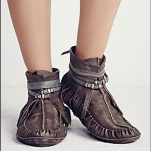 NEW 《Free People》Eastwood Leather Moccasins 8 (38